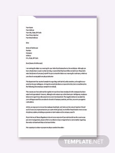 Professional Warning Letter Template