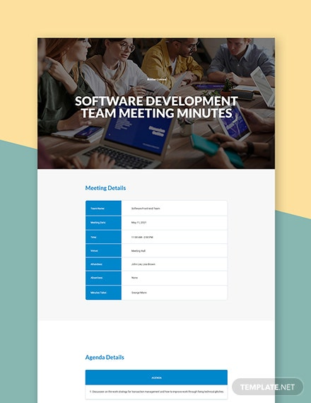 Software Development Meeting Minutes Template
