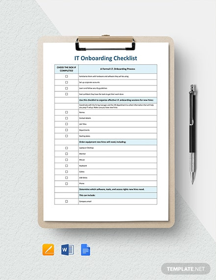 IT Onboarding Checklist Template
