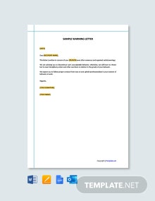 Free Sample Warning Letter Template