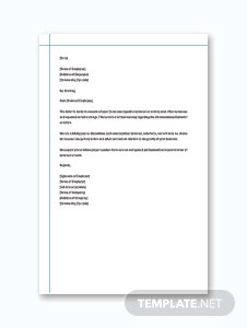 Sample Warning Letter Template