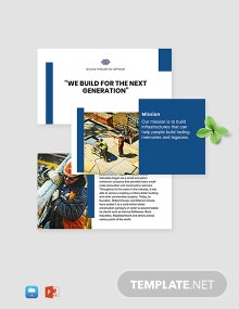 Building Construction Company Template