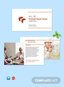 Construction Company Profile Template
