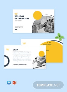 Construction Business Profile Template