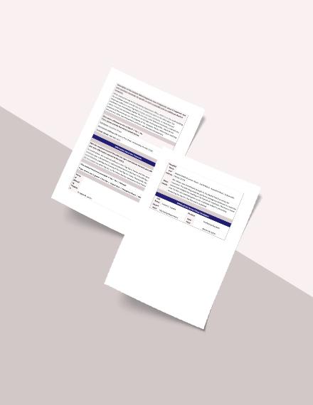 HR Investigation Report Form Template