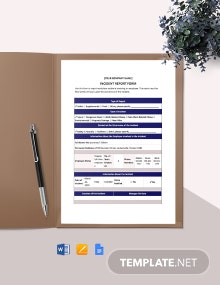 HR Investigation Report Form Template