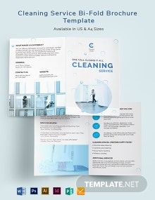 Cleaning Services Bi-Fold Brochure Template