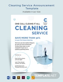 Cleaning Services Announcement Template