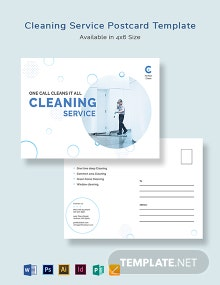 Cleaning Services Postcard Template