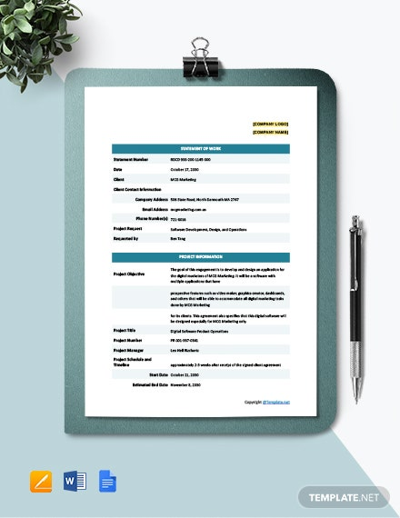 Free Sample IT Statement Template