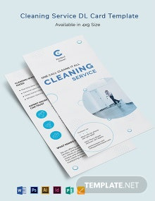 Cleaning Services DL Card Template