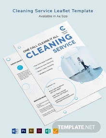 Cleaning Services Leaflet Template
