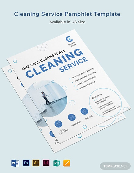 Cleaning Services Pamphlet Template