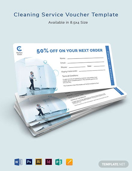 Cleaning Services Voucher Template