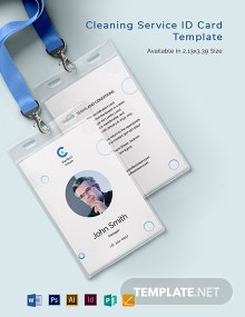 Cleaning Services ID Card Template