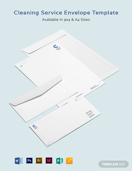 Cleaning Services Envelope Template