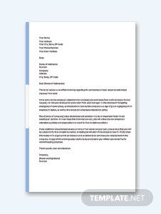 Warning Letter for Poor Attendance Template
