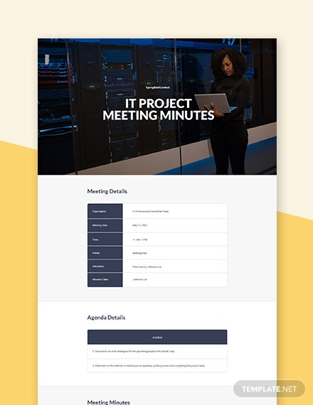 IT Project Meeting Minutes Template