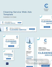 Cleaning Services Web Ads Template