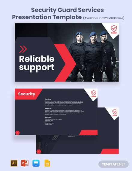 Security Guard Services Presentation Template