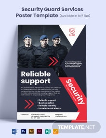 Security Guard Services Poster Template