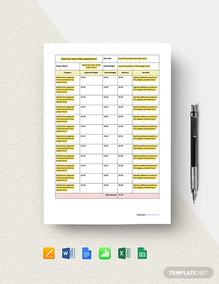 Sample Software Budget Template