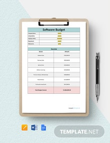 Free Basic Software Budget Template