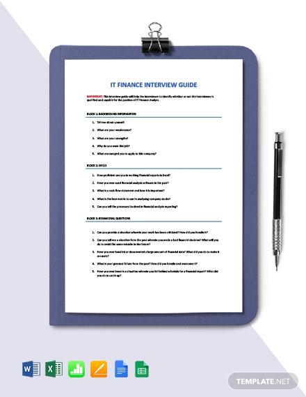 IT Budget Interview Guide Template