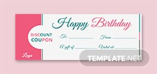 Blank Birthday Coupon Template
