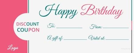 Blank Birthday Coupon Template