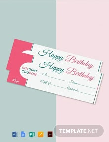 Free Blank Birthday Coupon Template