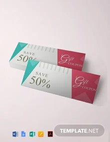 Free Blank Gift Coupon Template