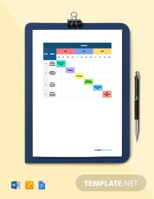 Free Basic Software Timeline Template