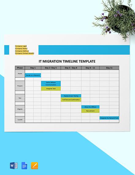 IT Migration Timeline Template