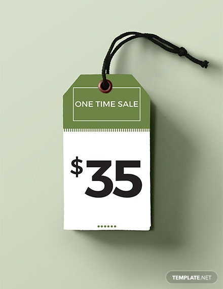Free Price Tag Template