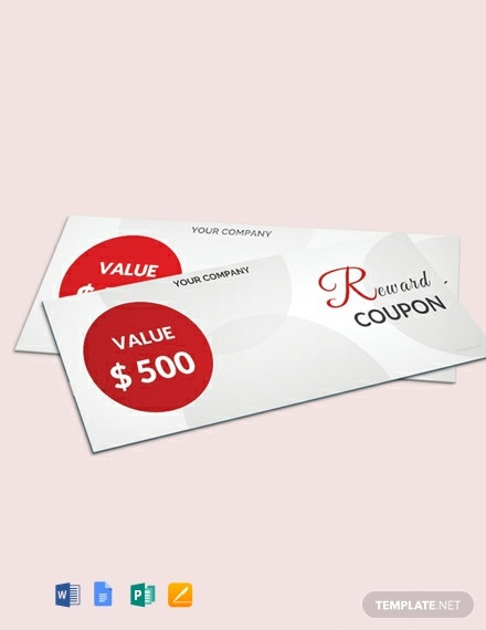 Free Blank reward Coupon Template