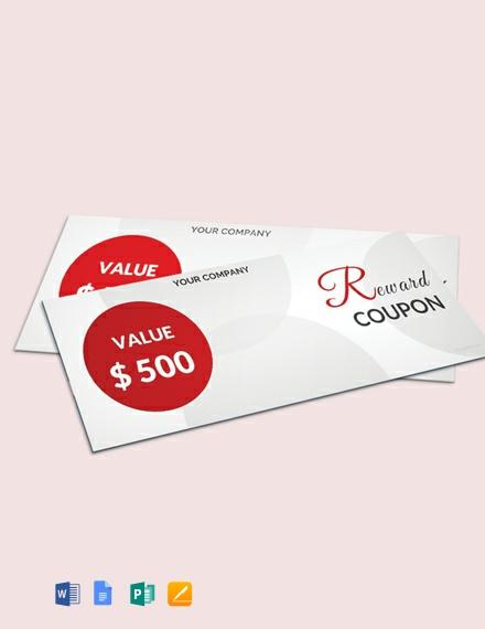 Free Blank reward Coupon Template