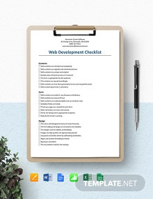Web Development Checklist Template