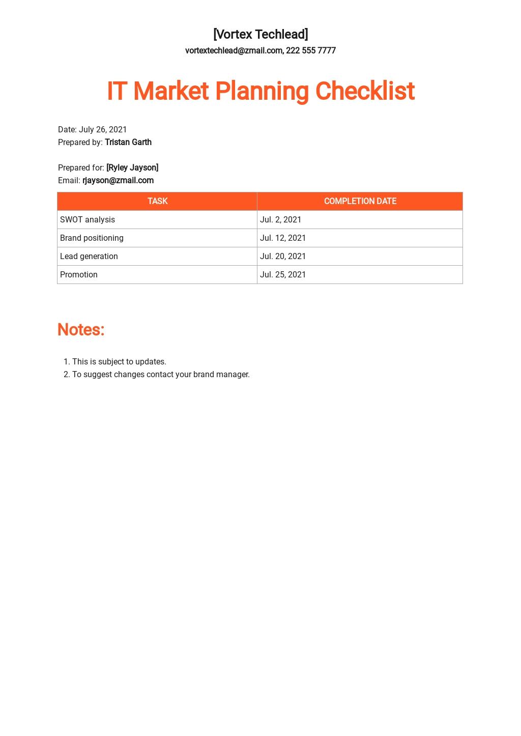 IT Market Planning Checklist Template.jpe