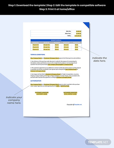 Free Blank Software Purchase Order Format