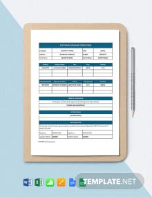 Free Simple Software Purchase Order Template