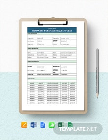Software Purchase Request Form Template