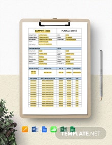 Sap Software Purchase Order Template