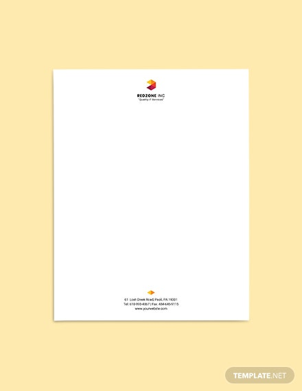 Free Professional IT Letterhead Template