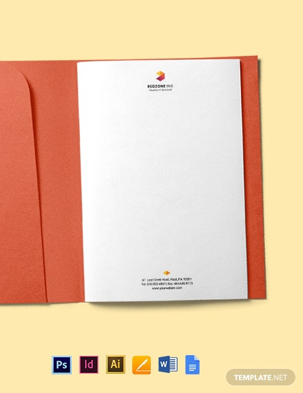 Free Professional IT Letterhead Template