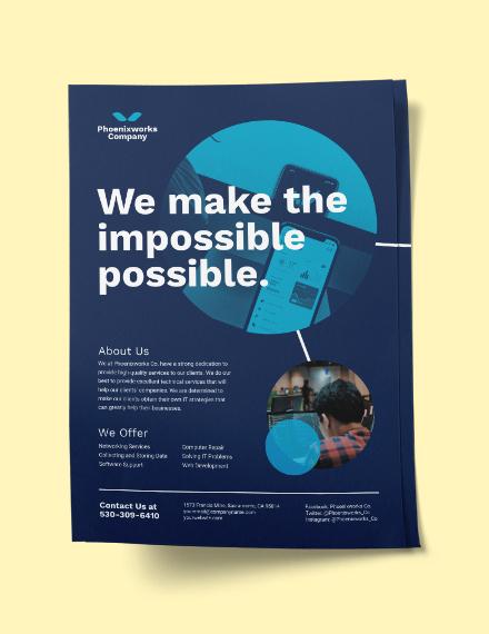 Sample IT Company Flyer