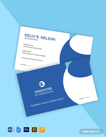 Free Creative Software Developer Business Card Template
