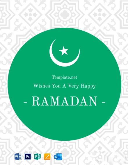 Free Ramadan Greeting Card Template