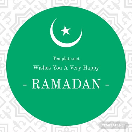 Free Ramadan Greeting Card Template
