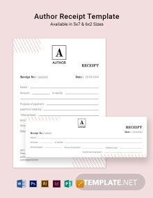 Author Receipt Template